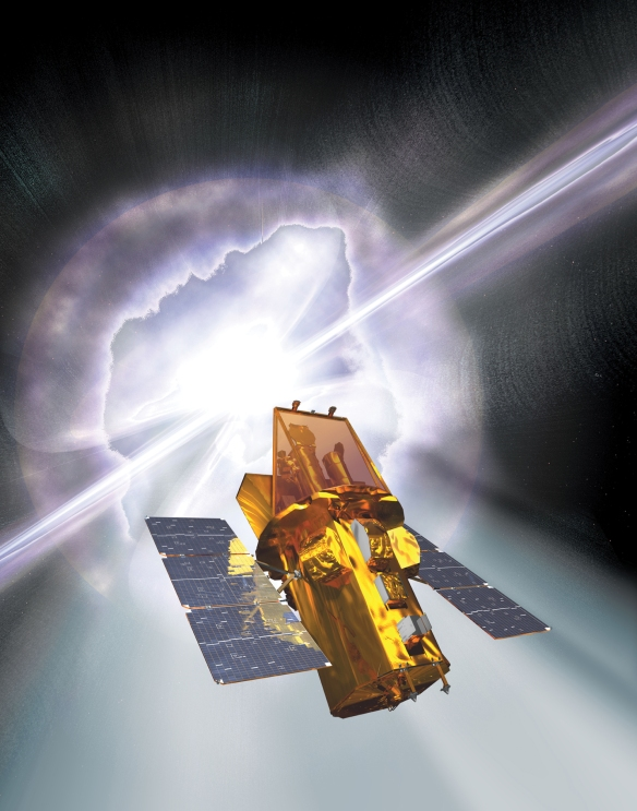 Artist impression of the Swift satellite. Credit: NASA.