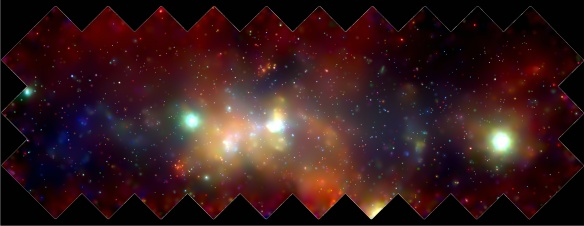 Chandra X-ray image of the center of our Milky Way Galaxy.  Credit: NASA/Wang et al. 2002.